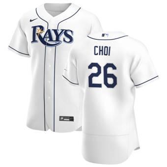 Men's Tampa Bay Rays #26 Ji-Man Choi White Home 2020 Authentic Player Baseball Jersey