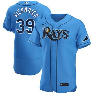 Men's Tampa Bay Rays #39 Kevin Kiermaier 2020 Light Blue Alternate Authentic Player Baseball Jersey
