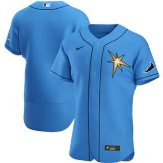 Men's Tampa Bay Rays 2020 Light Blue Alternate Authentic Team Baseball Jersey