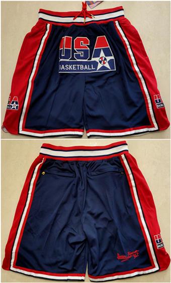 Men's Team USA Navy Basketball Shorts (Run Small)