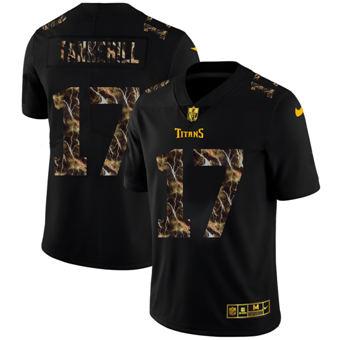 Men's Tennessee Titans #17 Ryan Tannehill Black Flocked Lightning Vapor Limited Football Jersey