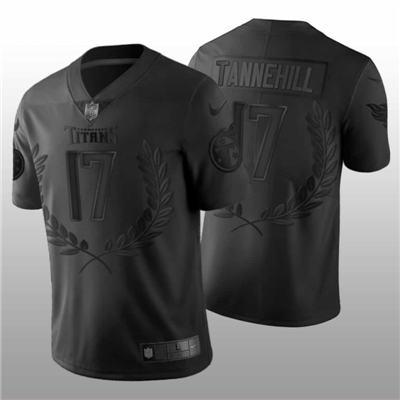 Men's Tennessee Titans #17 Ryan Tannehill Black MVP Edition Vapor Untouchable Stitched Football Jersey