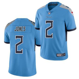 Men's Tennessee Titans #2 Julio Jones Light Blue Vapor Untouchable Stitched Football Jersey