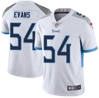 Men's Tennessee Titans #54 Rashaan Evans White Vapor Untouchable Stitched Football Jersey