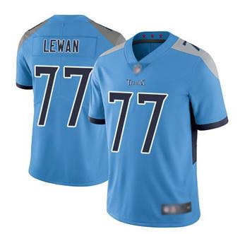 Men's Tennessee Titans #77 Taylor Lewan Light Blue Vapor Untouchable Limited Stitched Football Jersey