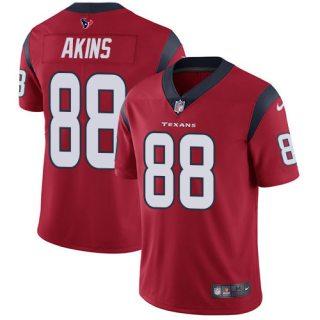Men's Texans #88 Jordan Akins Red Alternate Stitched Football Vapor Untouchable Limited Jersey