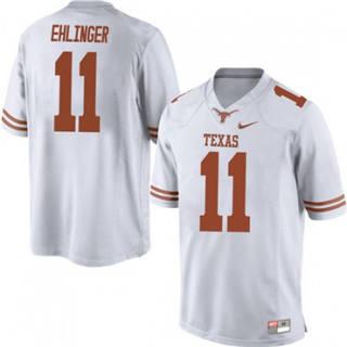 Men's Texas Longhorns #11 Sam Ehlinger Jersey White NCAA