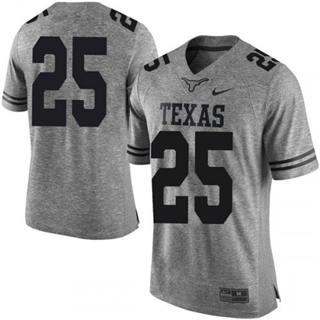 Men's Texas Longhorns #25 B.J. Foster Jersey Grey NCAA