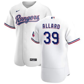 Men's Texas Rangers #39 Kolby Allard White Home 2020 Authentic Player Baseball Jersey