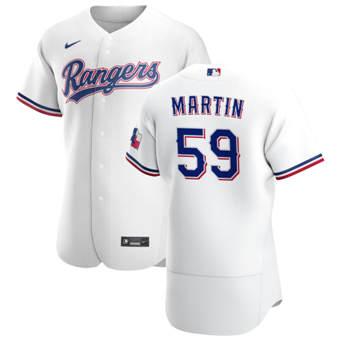 Men's Texas Rangers #59 Brett Martin White Home 2020 Authentic Player Baseball Jersey