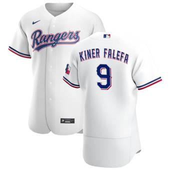 Men's Texas Rangers #9 Isiah Kiner-Falefa White Home 2020 Authentic Player Baseball Jersey