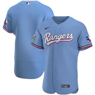 Men's Texas Rangers 2020 Light Blue Alternate Authentic Team Baseball Jersey