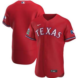 Men's Texas Rangers 2020 Scarlet Alternate Authentic Team Baseball Jersey