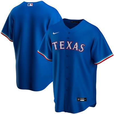 Men's Texas Rangers Blank Blue Stitched Baseball Jersey
