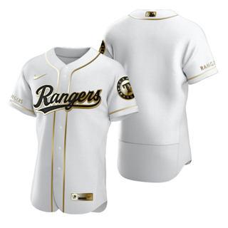 Men's Texas Rangers Blank White 2020 Authentic Golden Edition Baseball Jersey