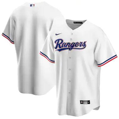 Men's Texas Rangers Blank White Stitched Baseball Jersey