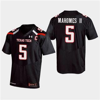 Men's Texas Tech Red Raiders #5 Patrick Mahomes II Jersey Black NCAA