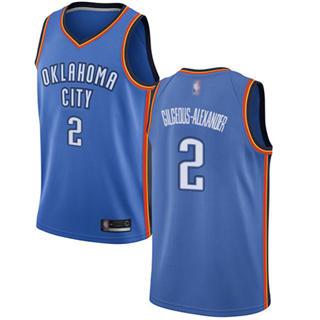 Men's Thunder #2 Shai Gilgeous-Alexander Blue Basketball Swingman Icon Edition Jersey