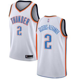 Men's Thunder #2 Shai Gilgeous-Alexander White Basketball Swingman Association Edition Jersey