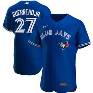 Men's Toronto Blue Jays #27 Vladimir Guerrero Jr. 2020 Royal Alternate Authentic Player Baseball Jersey
