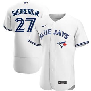 Men's Toronto Blue Jays #27 Vladimir Guerrero Jr. 2020 White Home Authentic Player Baseball Jersey