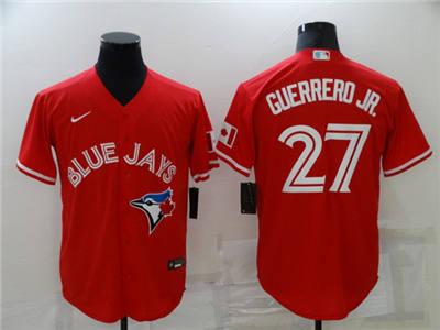 Men's Toronto Blue Jays #27 Vladimir Guerrero Jr. Red Cool Base Stitched Baseball Jersey