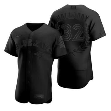 Men's Toronto Blue Jays #32 Roy Halladay Black Baseball MVP Limited Player Edition Jersey