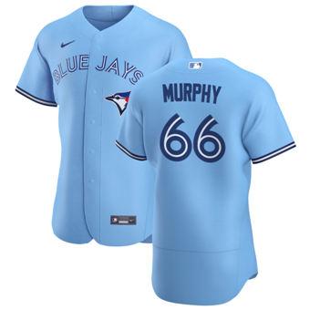 Men's Toronto Blue Jays #66 Patrick Murphy Light Blue Alternate 2020 Authentic Player Baseball Jersey