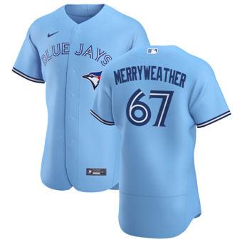 Men's Toronto Blue Jays #67 Julian Merryweather Light Blue Alternate 2020 Authentic Player Baseball Jersey