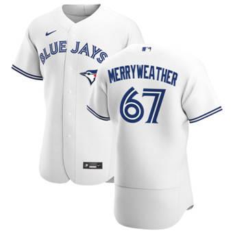 Men's Toronto Blue Jays #67 Julian Merryweather White Home 2020 Authentic Player Baseball Jersey