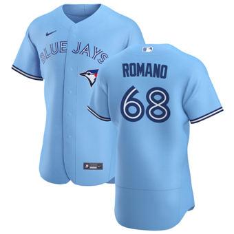 Men's Toronto Blue Jays #68 Jordan Romano Light Blue Alternate 2020 Authentic Player Baseball Jersey