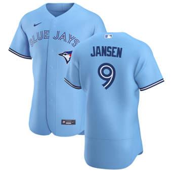 Men's Toronto Blue Jays #9 Danny Jansen Light Blue Alternate 2020 Authentic Player Baseball Jersey