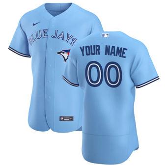 Men's Toronto Blue Jays Custom Light Blue Alternate 2020 Authentic Player Baseball Jersey