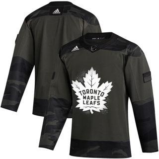 Men's Toronto Maple Leafs 2019 Veterans Day Authentic Practice Hockey Jersey Camo