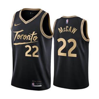 Men's Toronto Raptors #22 Patrick McCaw Black City Edition New Uniform 2020-21 Stitched Basketball Jersey