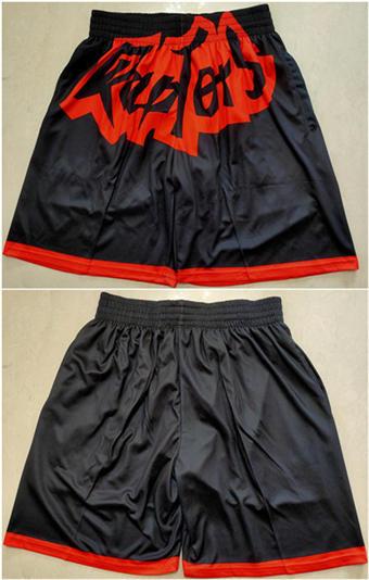 Men's Toronto Raptors Black Mitchell&Ness Basketball Shorts (Run Small)
