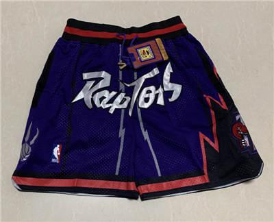 Men's Toronto Raptors Hardwood Classics Stitched Basketball Short