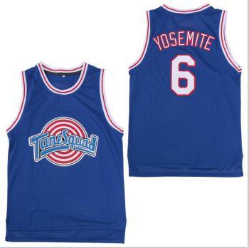 Men's Tune Squad #6 Yosemite Blue Stitched Movie Basketball Jersey