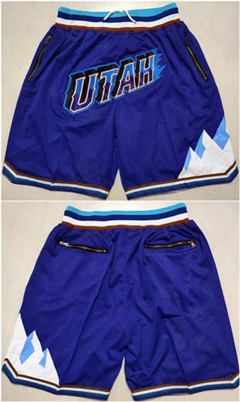 Men's Utah Jazz Purple Basketball Shorts (Run Small)