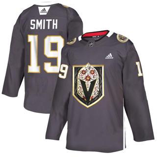 Men's Vegas Golden Knights #19 Reilly Smith Grey Latino Heritage Night Stitched Hockey Jersey