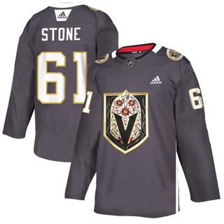 Men's Vegas Golden Knights #61 Mark Stone Grey Latino Heritage Night Stitched Hockey Jersey