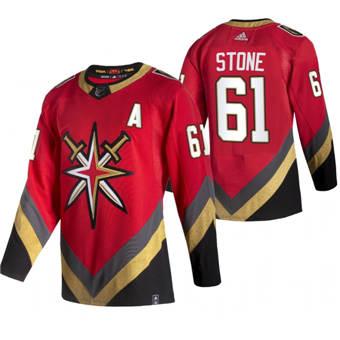 Men's Vegas Golden Knights #61 Mark Stone Red 2020-21 Reverse Retro Alternate Hockey Jersey