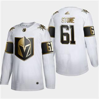 Men's Vegas Golden Knights #61 Mark Stone White Golden Edition Limited Stitched Hockey Jersey