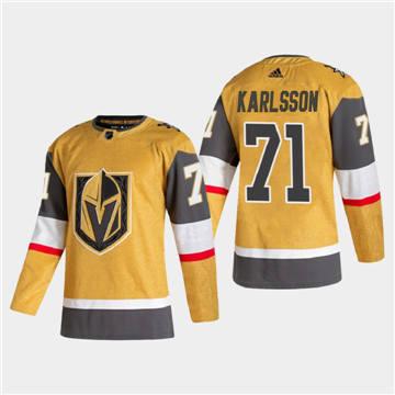 Men's Vegas Golden Knights #71 William Karlsson 2020-21 Authentic Player Alternate Stitched Hockey Jersey Gold