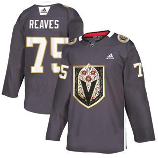 Men's Vegas Golden Knights #75 Ryan Reaves Grey Latino Heritage Night Stitched Hockey Jersey