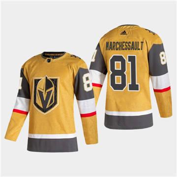Men's Vegas Golden Knights #81 Jonathan Marchessault 2020-21 Authentic Player Alternate Stitched Hockey Jersey Gold