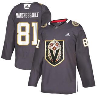 Men's Vegas Golden Knights #81 Jonathan Marchessault Grey Latino Heritage Night Stitched Hockey Jersey