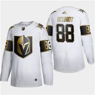 Men's Vegas Golden Knights #88 Nate Schmidt White Golden Edition Limited Stitched Hockey Jersey