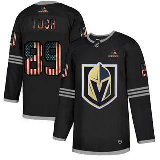 Men's Vegas Golden Knights #89 Alex Tuch Black USA Flag Limited Hockey Jersey