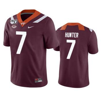 Men's Virginia Tech Hokies Maroon Devon Hunter Game College Football Jersey